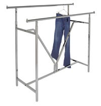 Double Bar Retail Clothing Racks