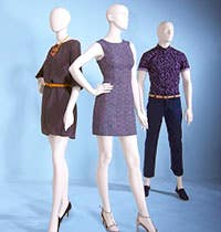 Eve and Gene Series Abstract Mannequins