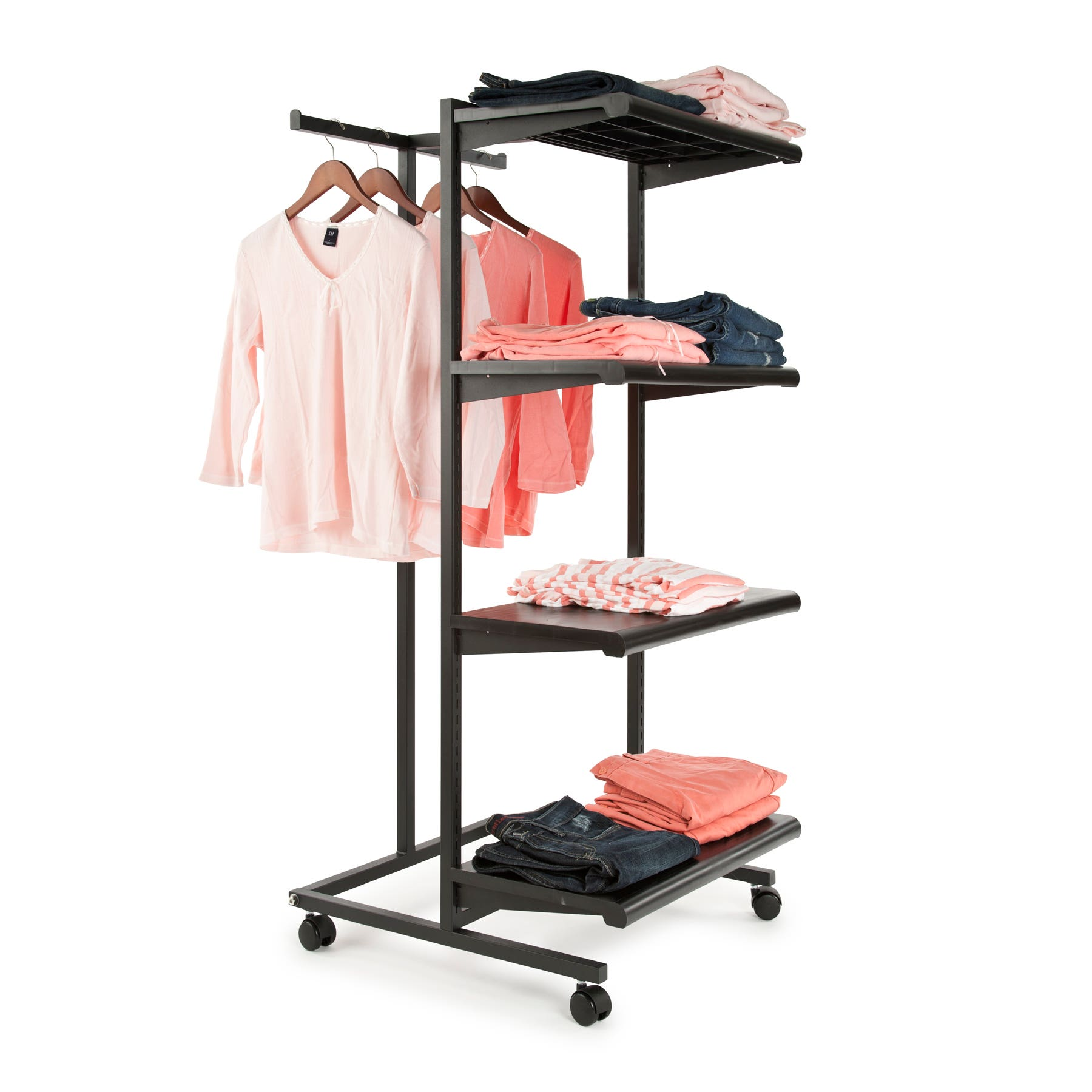 Clothing Rack Shelf Combination