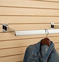 Slatwall Hangrails, Hangrail Brackets, Tubing and Accessories