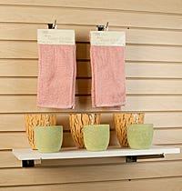 Slatwall Shelf Brackets & Wood Shelves
