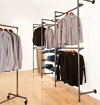 Pipeline Clothing Rack Displays
