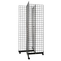 4 Way Grid Merchandiser - Black