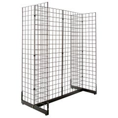 Gondola Grid Merchandiser - Black
