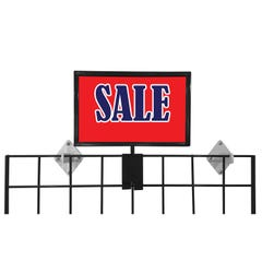 """7""""H x 11""""W Metal Sign Holder for Gridwall"""