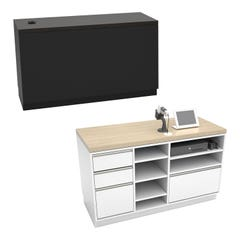 """Deluxe Cash Wrap Retail Counters - 55"""" Wide"""