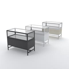 Deluxe Glass Showcase Display Cabinet with Storage Drawers