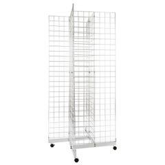 4 Way Grid Merchandiser - Chrome