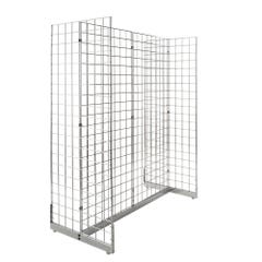 Gondola Grid Merchandiser - Chrome