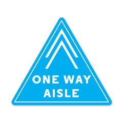 """Social Distancing Floor Decals, 12""""W x 13""""T. - """"One Way Aisle"""""""