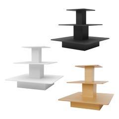 3-TIER MELAMINE SQUARE TABLE