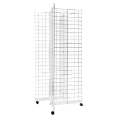 4 Way Grid Merchandiser - White