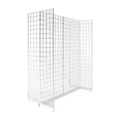 Gondola Grid Merchandiser - White